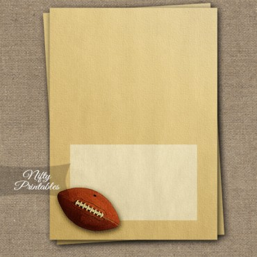 Tent Cards - Place Cards - Buffet Cards - Vintage Football