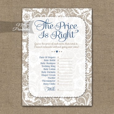 Price Is Right Baby Shower - White Lace