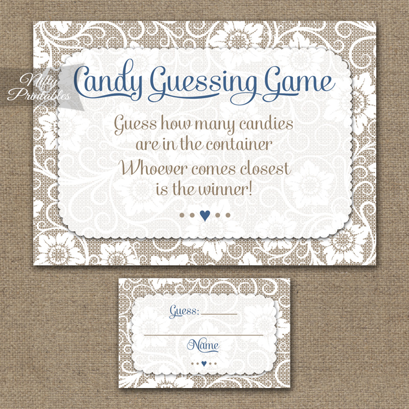 Candy Guessing Game - White Lace