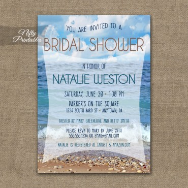 Ocean Beach Bridal Shower Invitation