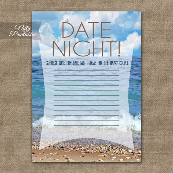 Bridal Shower Date Night Ideas - Ocean Beach