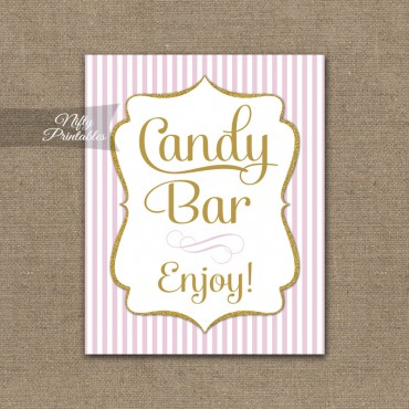 Candy Buffet Sign - Pink Gold
