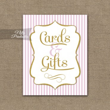Cards & Gifts Sign - Pink Gold