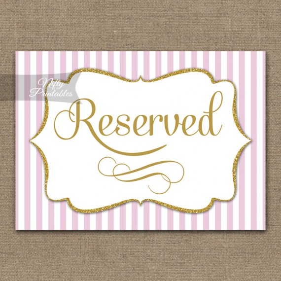 Reserved Sign - Pink Gold