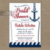 Red Nautical Bridal Shower Invitation - Red Nautical