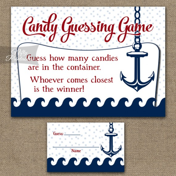 printable candy guessing game