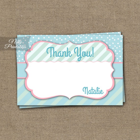 Turquoise Pink Whimsey Baby Shower Invitation
