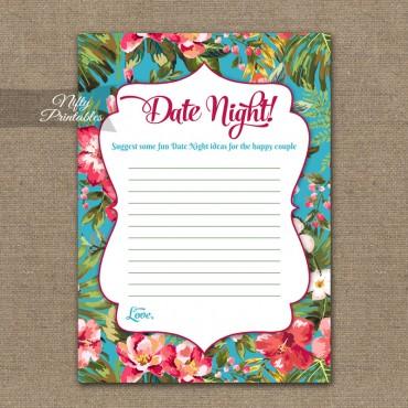 Bridal Shower Date Night Ideas - Tropical Luau