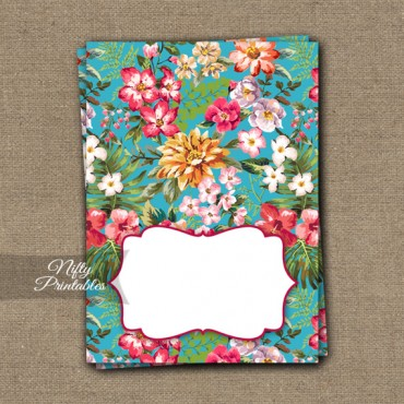 Hawaiian Tropical Luau Blank Place Cards or Tent Cards