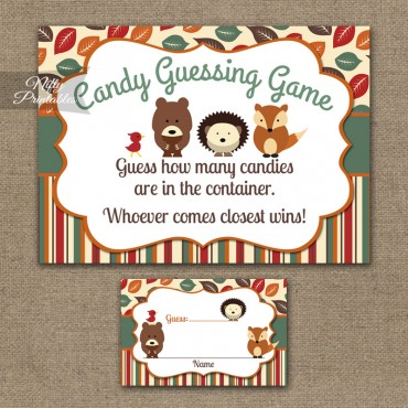 Candy Guessing Game - Woodland Baby