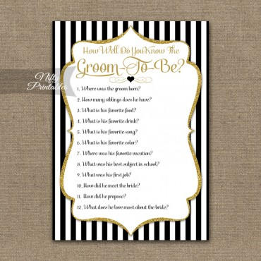 How Well Do You Know The Groom Shower Game - Black Gold