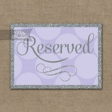Reserved Sign - Lilac Silver Dots