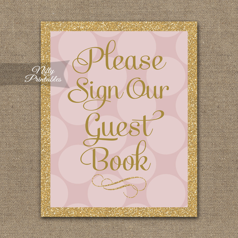 photograph regarding Printable Guest Book called Visitor Guide Indicator - Red Gold Dots