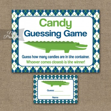 Candy Guessing Game - Alligator