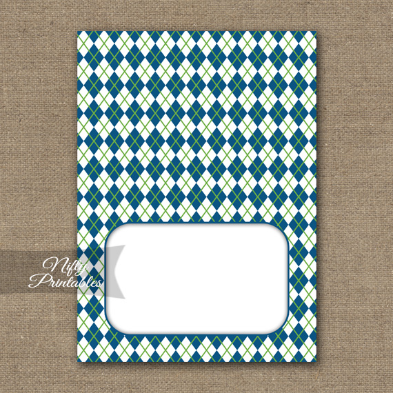 Tent Cards - Place Cards - Buffet Cards - Blue Green