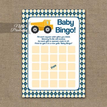 Baby Shower Bingo Game - Construction