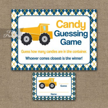 Candy Guessing Game - Construction