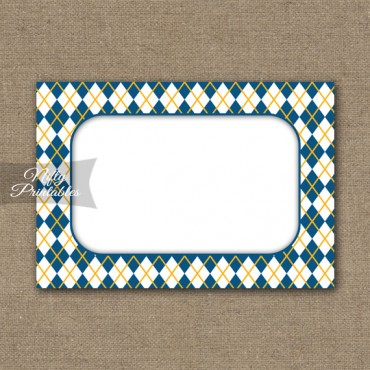 Food Labels - Nametags - Yellow Blue