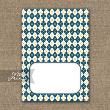 Tent Cards - Place Cards - Buffet Cards - Yellow Blue