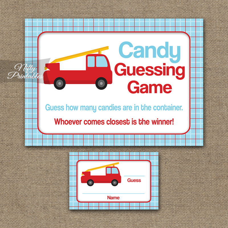 Candy Guessing Game - Fire Truck