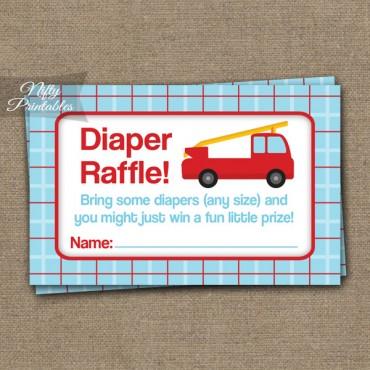 Diaper Raffle Baby Shower - Fire Truck