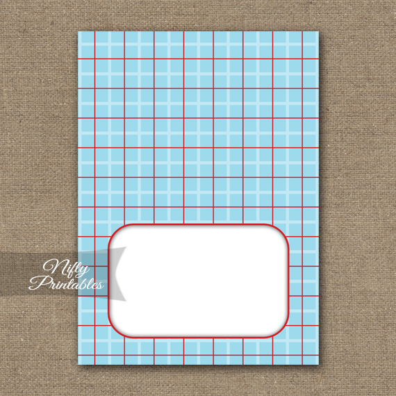 Tent Cards - Place Cards - Buffet Cards - Blue Red