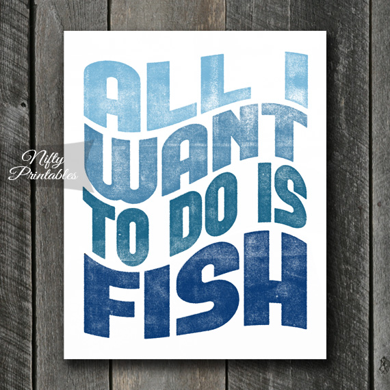 Fishing Print - Retro Wave