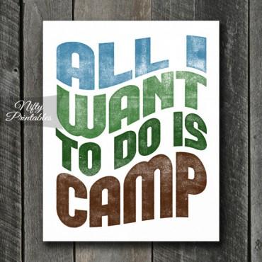 Camping Print - Retro Wave