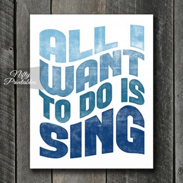 Singing Print - Retro Wave