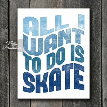 Skating Print - Retro Wave