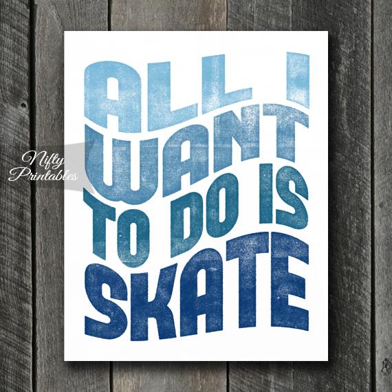 Skating Print - Retro Wave