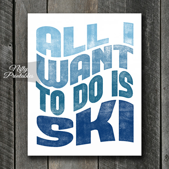 Skiing Print - Retro Wave