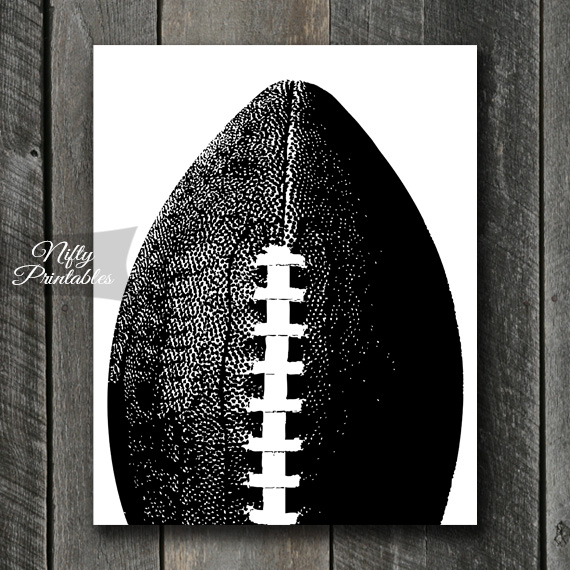 Football Print - Black & White
