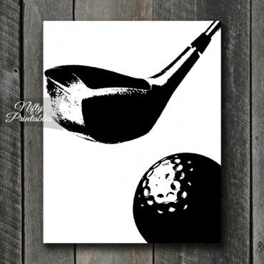 Golf Print - Black & White