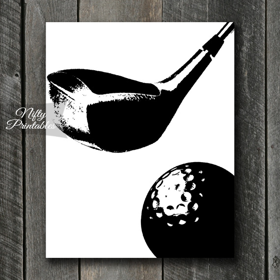 Golf Print - Black & White