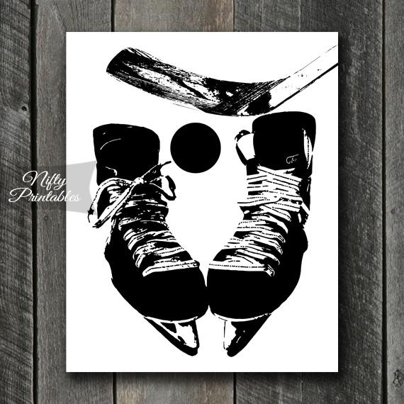 Hockey Print - Black & White