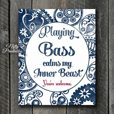 Bass Art Print - Beast