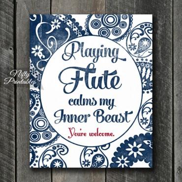 Flute Art Print - Beast