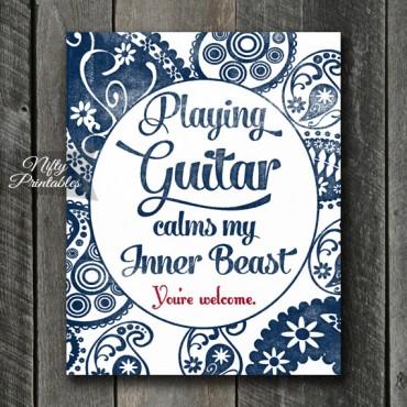 Guitar Art Print - Beast