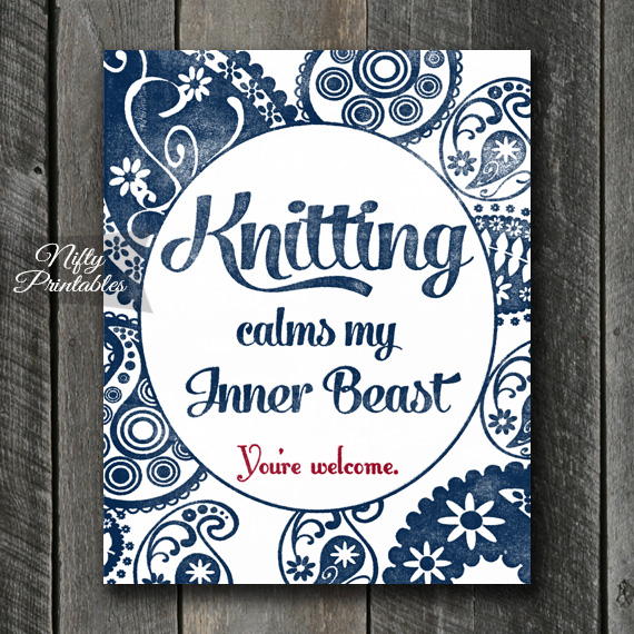 Knitting Art Print - Beast