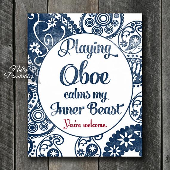 Oboe Art Print - Beast