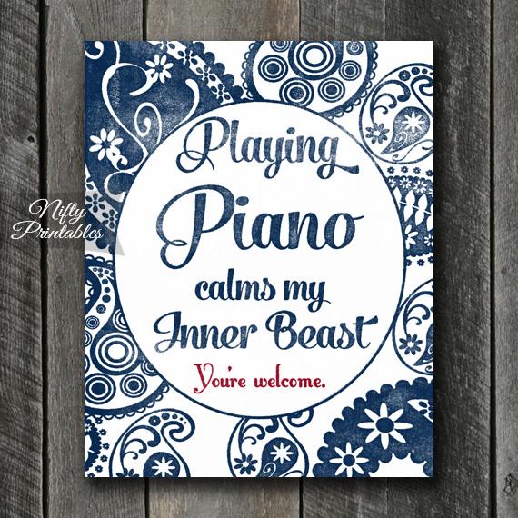 Piano Art Print - Beast