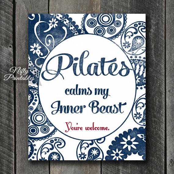 Pilates Art Print - Beast