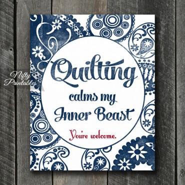 Quilting Art Print - Beast