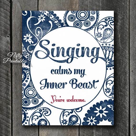 Singing Art Print - Beast