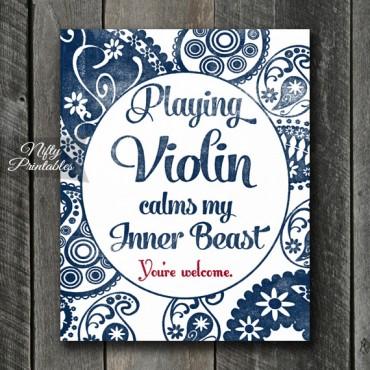 Violin Art Print - Beast