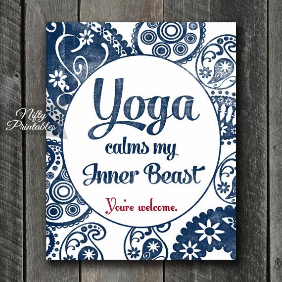 Yoga Art Print - Beast