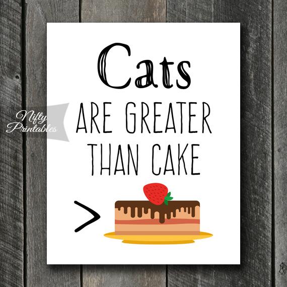 Funny Cat Art - Cake