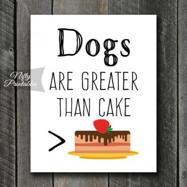Funny Dog Art - Cake