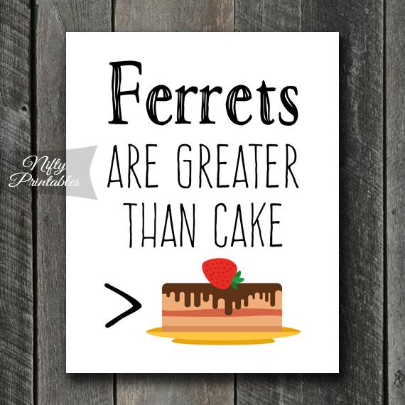 Funny Ferret Art - Cake